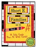 Short E Word Families for Word Walls