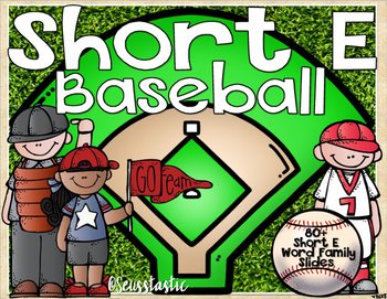 Short E Word Family Baseball