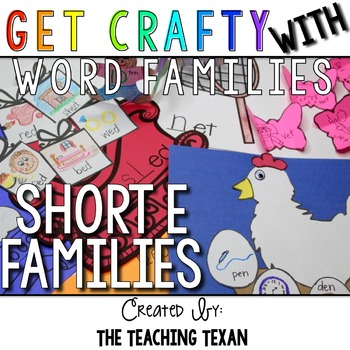 Short E Word Family Crafts