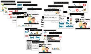 Short E Word Family Digital Notebook Bundle