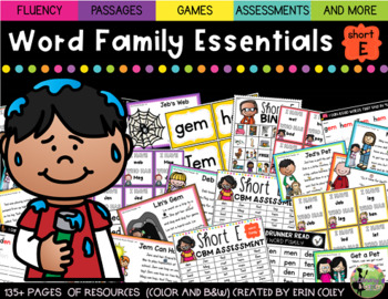 Short E Word Family Fluency Essentials: Intervention and Small Group Resources