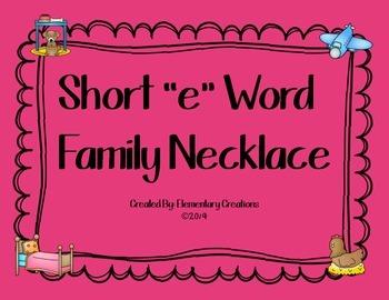 "Short ""E"" Word Family Necklace"