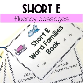 Short E Word Family Passages