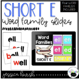 Short E Word Family Slides