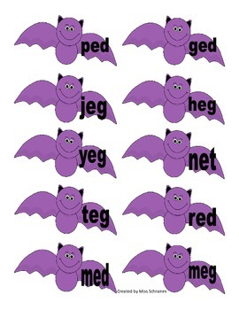Word Family Work Short E {Halloween Word Family Sort}