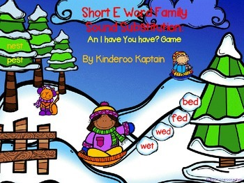 Short E Word Family Sound Substitutions I Have You Have Game