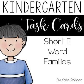 Short E Word Family Task Cards