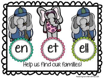 Short E Word Family Word Work
