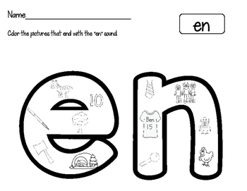 "Short ""E"" Word Family Worksheets"