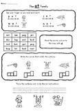 Short E Word Family Worksheets (et, en, ed, eg, ell)