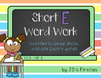 Short E Word Work Activities