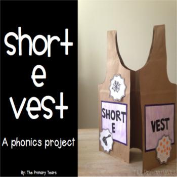 Short E Word Work Craftivity - A Phonics Project