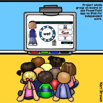 Short E Word Work Digital Center - Click Click Go!