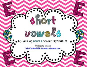 Short E Word Work Pack - No Prep!