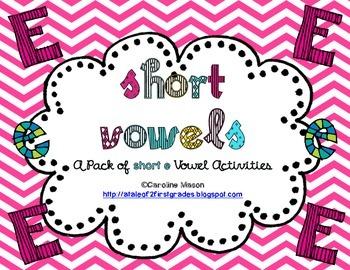 Short E Word Work Pack - No Prep!