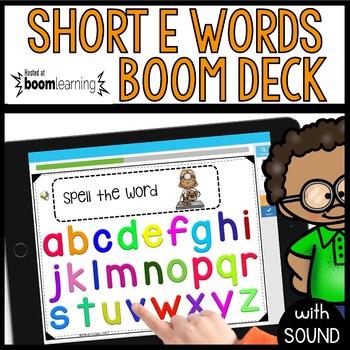 Short E Words BOOM CARDS