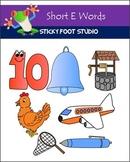 Short E Words Clip Art Set