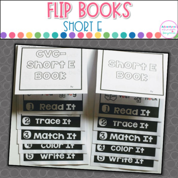 Short E Words- Flip Book