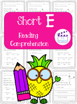 Short E Words Reading Comprehension