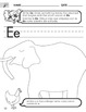 Short E Worksheet with Instructions Translated into Spanish for Parents