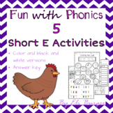 """Short """"E"""" Worksheets - Fun with Phonics!"""