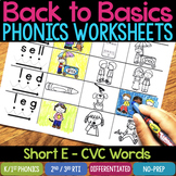Short E Worksheets & Activities - Short E Word Work (No-Prep Phonics Worksheets)
