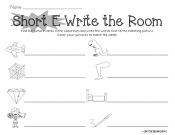 Short E Write the Room {CVC Words}