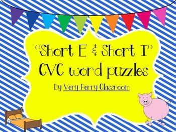 Short E and I CVC puzzles