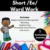 Short /Ee/ Word Work Printables
