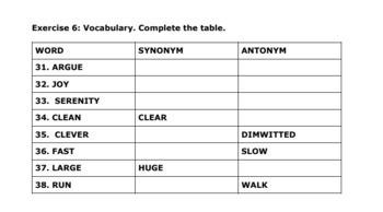Short English Language Verbal Test for English Language Learners (30 Min. Test)
