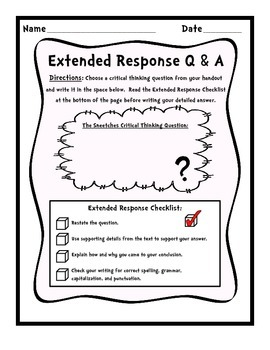 Short & Extended Response Activities - A Dr. Seuss inspired lesson