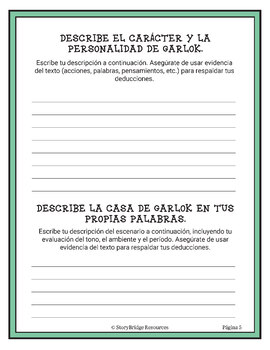Short Fantasy Story in Spanish-3rd, 4th, 5th grade Reading Comprehension