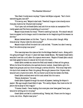 "Short Fiction Story ""The Football Dilemma"""