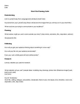 Short Film Planning Guide
