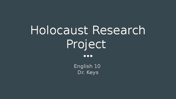 Short Holocaust Research Project