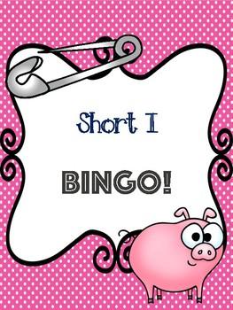 Short I Bingo [10 playing cards]