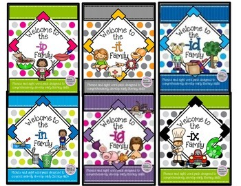 Short I Bundle WORD FAMILY PHONICS AND SIGHT WORD WORK EARLY LITERACY DECODING