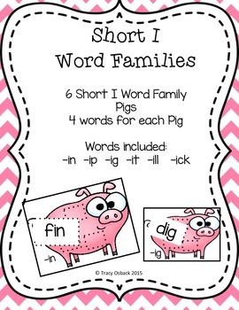 Short I CVC Word Family Center