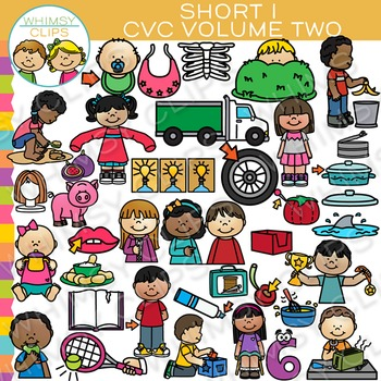 CVC Short I Vowel Clip Art - Volume Two