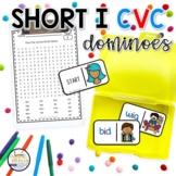 Short I CVC Domino Phonics Activity for Literacy Centers