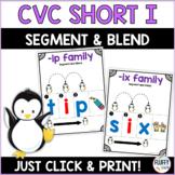 Short I CVC Families for Beginning Readers