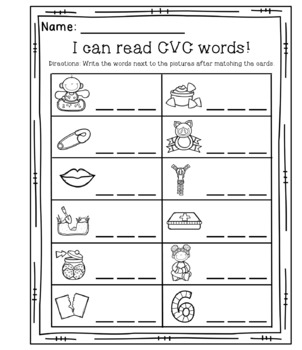 Short I CVC Matching Game