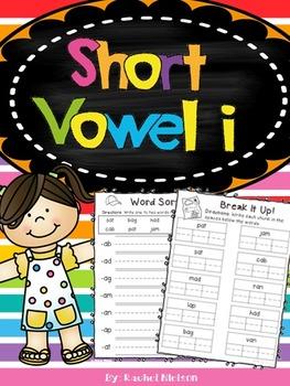 Short I CVC Phonics Printables (No Prep)
