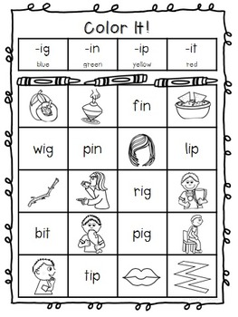 Short I CVC Phonics Printables (No Prep)