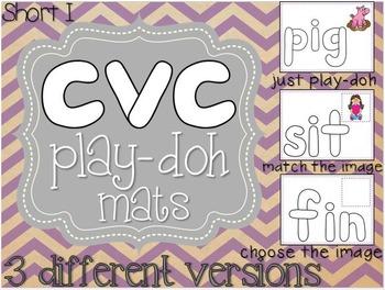 Short I CVC Play-Doh Mats (3 versions)