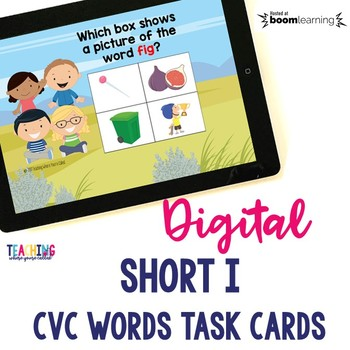 Short I CVC Words Digital Cards