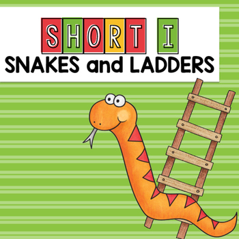 Short I CVC Words Snakes and Ladders Game