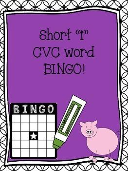 Short I CVC word Bingo
