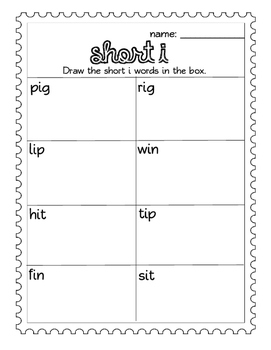 Short I CVC words: Worksheets- Spinner, Roll and Read, Practice Sheet