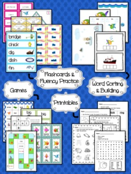 Short I Differentiated Word Work Bins